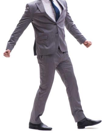 Hombre de negocios aislado en el fondo blanco Foto de archivo