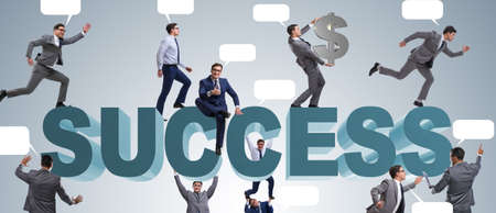 The businessmen in success business concept