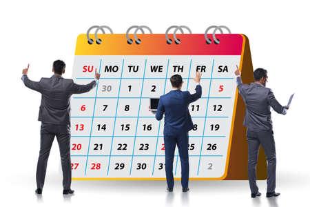 Business calendar concept with businessman