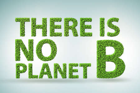 Ecological concept - there is no planet b - 3d rendering 版權商用圖片