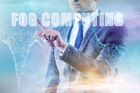 Concept of cloud edge and fog computing 版權商用圖片