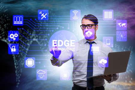 Fog and edge cloud computing concept 版權商用圖片