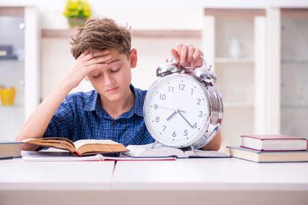 Kid preparing for school at home Reklamní fotografie