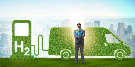 Concept de voiture à hydrogène dans le concept de transport écologique