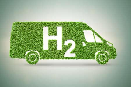 Das Wasserstoffautokonzept - 3D-Rendering