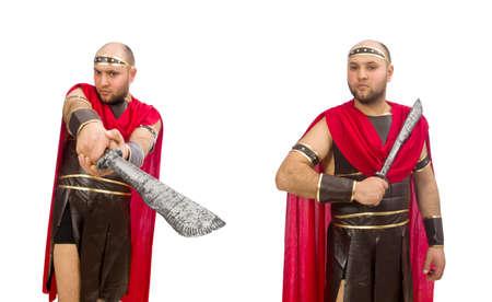 Gladiator isolated on white background Imagens