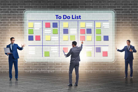 The concept of to do list with businessman Stock Photo