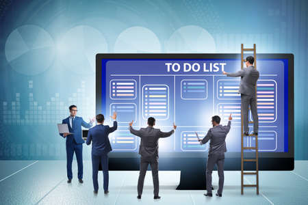 The concept of to do list with businessman Stockfoto