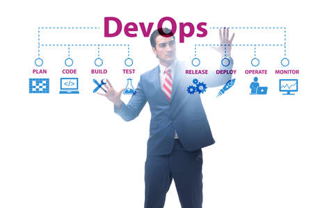 DevOps software development IT concept Stock Photo