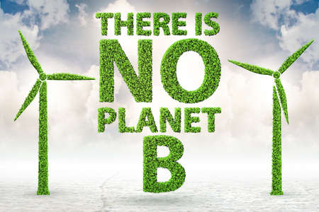 The ecological concept - there is no planet b - 3d rendering Zdjęcie Seryjne