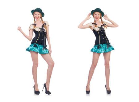 Femme au concept de vêtements de mode