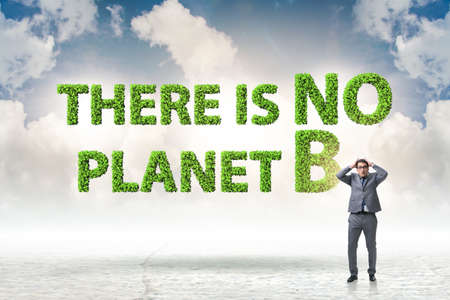 The ecological concept - there is no planet b Stock Photo - 138463399