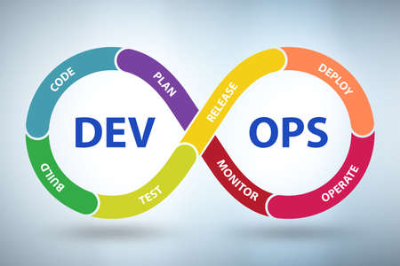 The devops software development it concept - 3d rendering Stockfoto