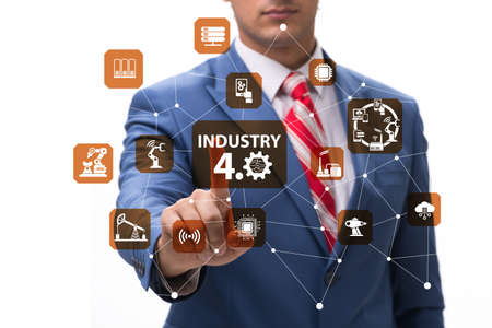 Modern industry 4.0 technical automation concept