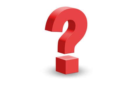 El concepto de pregunta e incertidumbre - representación 3d
