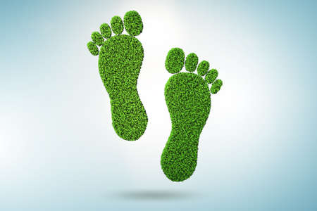 The carbon footprint concept - 3d rendering Stock Photo