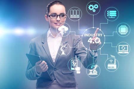 Modern industry 4.0 technical automation concept Banco de Imagens