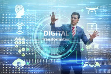 Digital transformation and digitalization technology concept