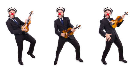 Funny clown businessman isolated on the white background Reklamní fotografie