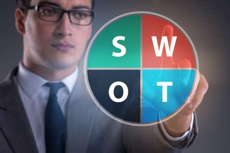 SWOT technique concept for business Reklamní fotografie