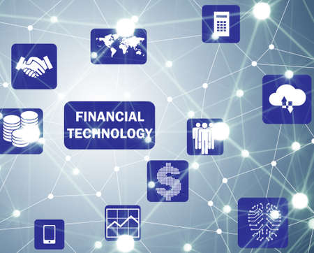 The fintech in financial technology concept
