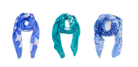 The warm scarf isolated on the white background