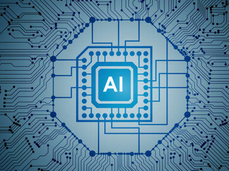 The artificial intelligence modern computing concept