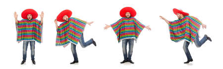 The funny mexican isolated on white