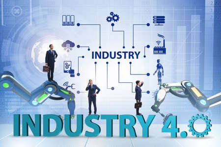 The modern industry 4.0 technical automation concept