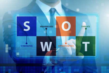 SWOT technique concept for business Stock Photo