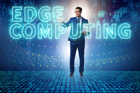 Concept of cloud edge and fog computing Stock Photo