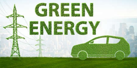 Green energy concept - 3d rendering Stock Photo