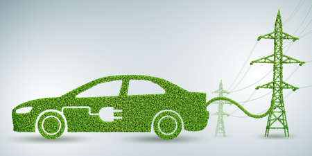 Green clean energy concept - 3d rendering