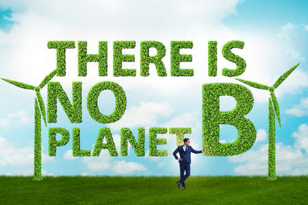 The ecological concept - there is no planet b Stock Photo