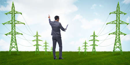 Businessman in the green energy concept Stock Photo