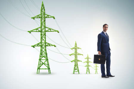 Businessman in green energy concept Stock Photo