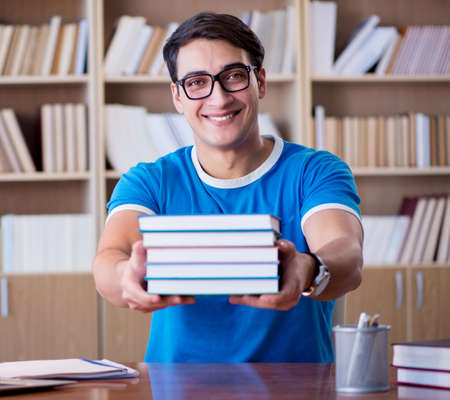 Young student preparing for school exams Stock Photo