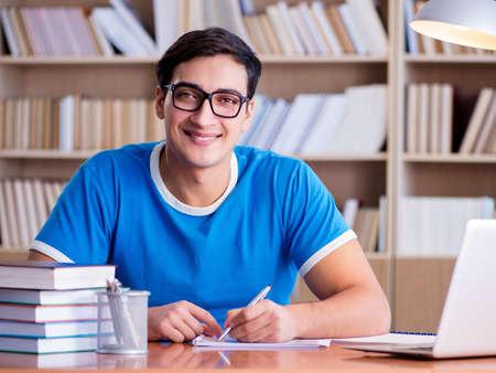 Young student preparing for school exams Stock fotó