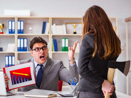Office conflict between man and woman Zdjęcie Seryjne