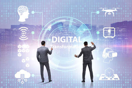 Digital transformation and digitalization technology concept Stock Photo