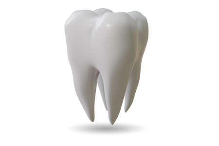 The white tooth in dental concept - 3d rendering