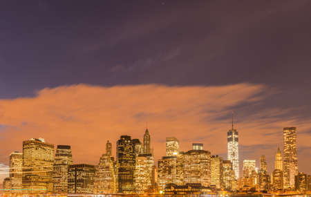 The view of lower manhattan from brooklyn