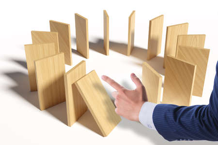 Domino effect and the competition concept Banque d'images