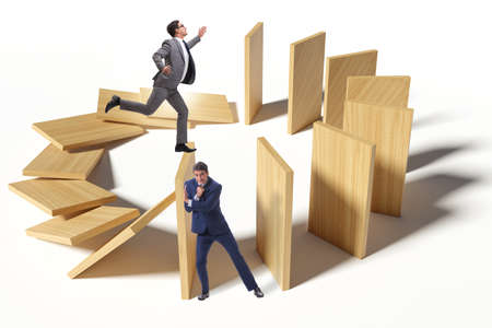 The domino effect and competition concept