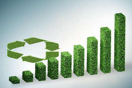 Green ecological growth concept - 3d rendering