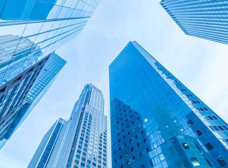 The new york skyscrapers vew from street level Reklamní fotografie