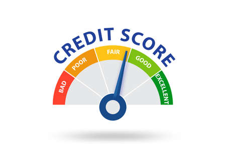 The credit score concept - 3d rendering