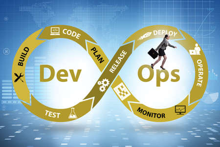 DevOps software development IT concept 写真素材