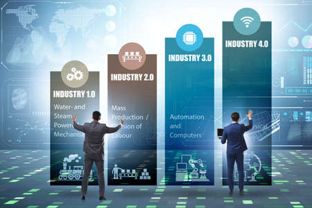 Industry 4.0 concept with various stages 写真素材