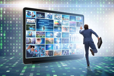 Many different images in video streaming concept